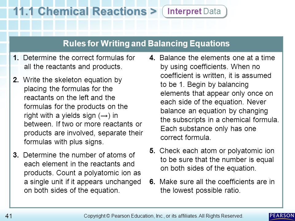 balancing chemical reaction essay Chemistry 103: writing and balancing chemical equations neutralization in a neutralization reaction, an acid reacts with a base to produce a salt.