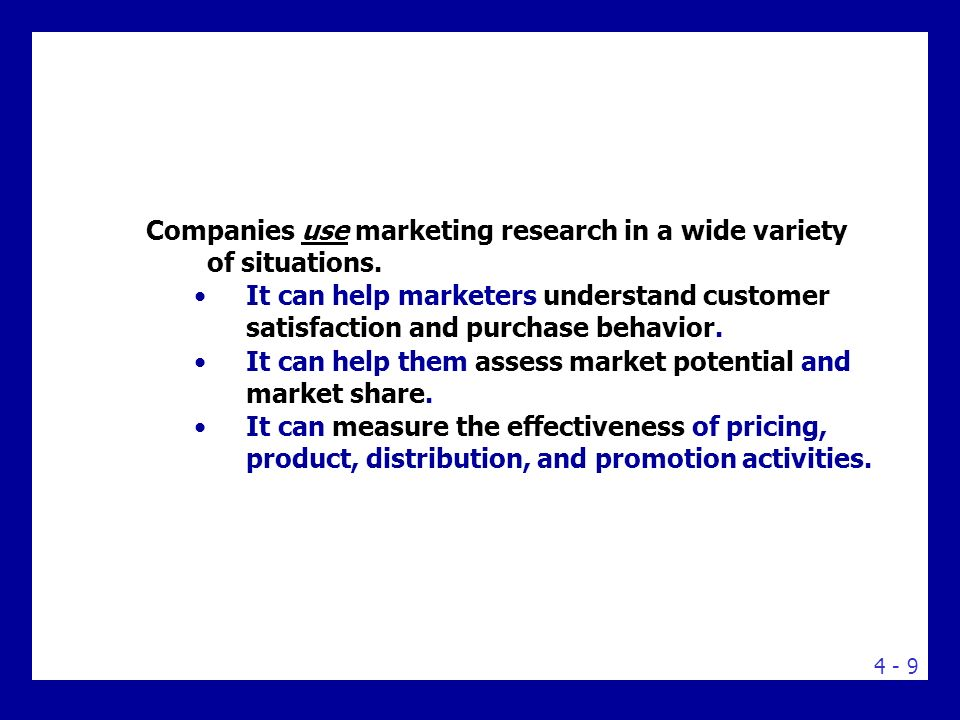 Steps in the Marketing Research Process: