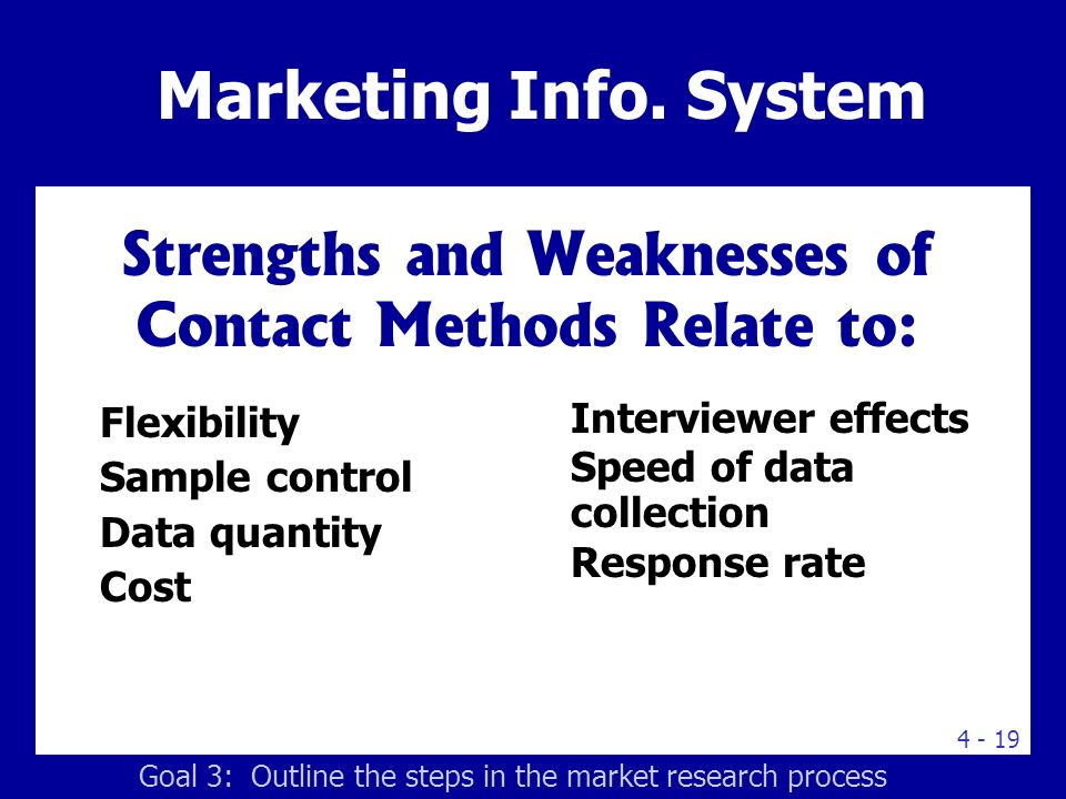 Table.4.3 Strengths and Weaknesses of Contact Methods