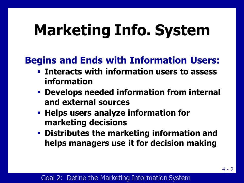 Fig.4.1.The Marketing Information System