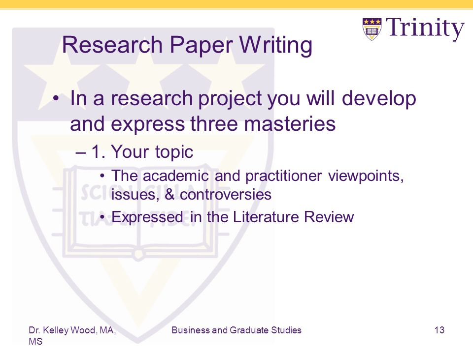 sample literature review title page