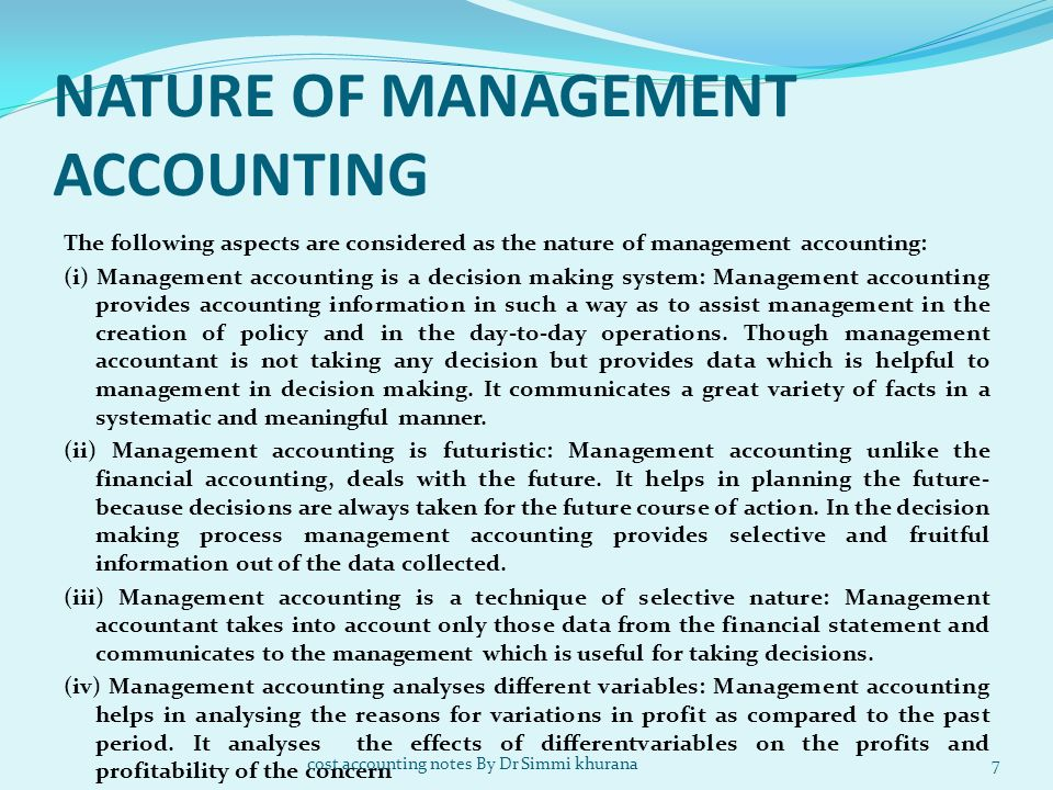 Unit 1 Cost Accounting Ppt Video Online Download