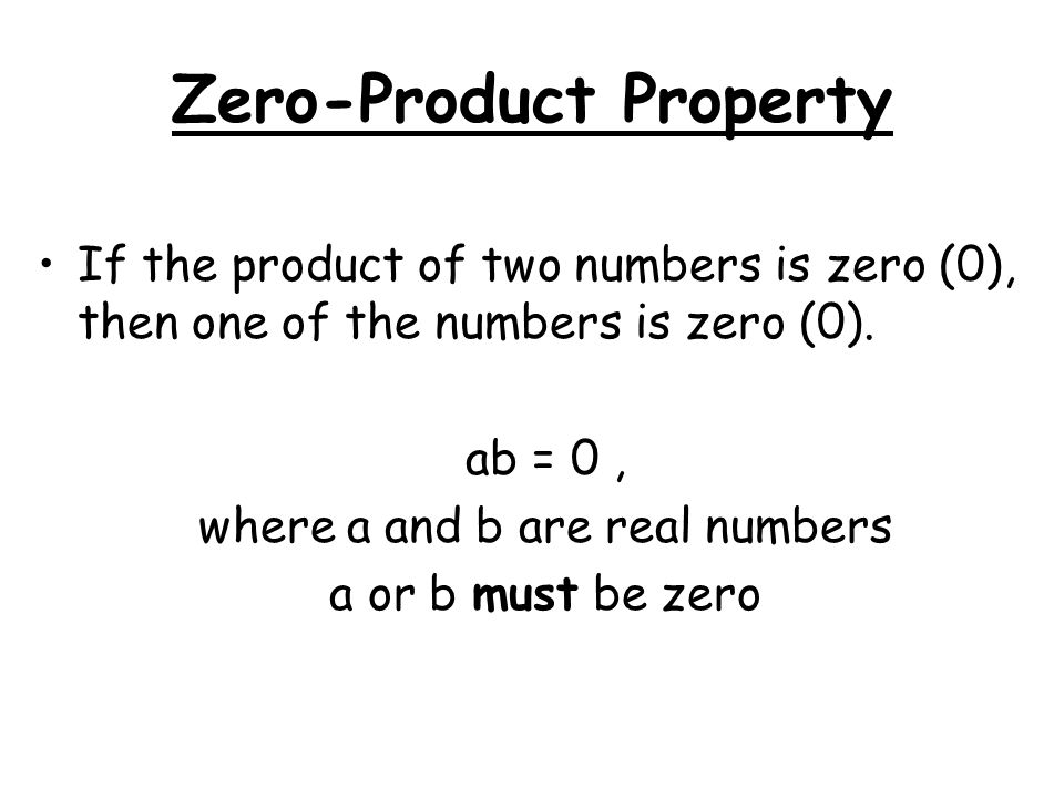 Zero-Product Property