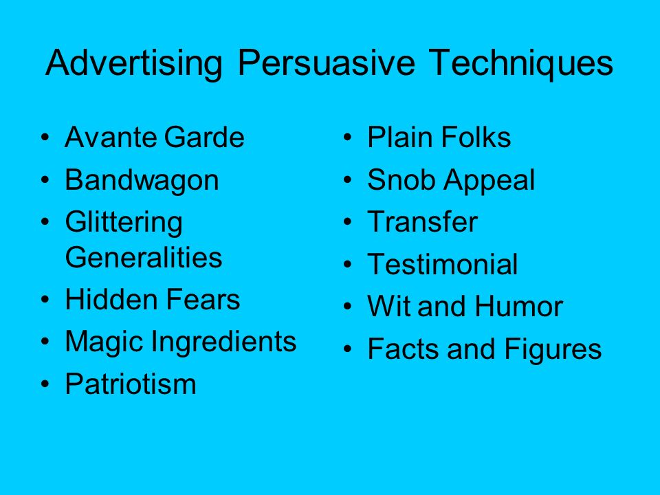 persuasion techniques in ads