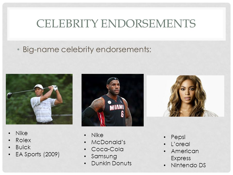 GMC Denali Celebrity Endorsements - Celebrity Endorsers
