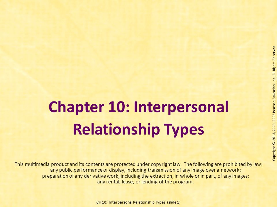 Interpersonal ties