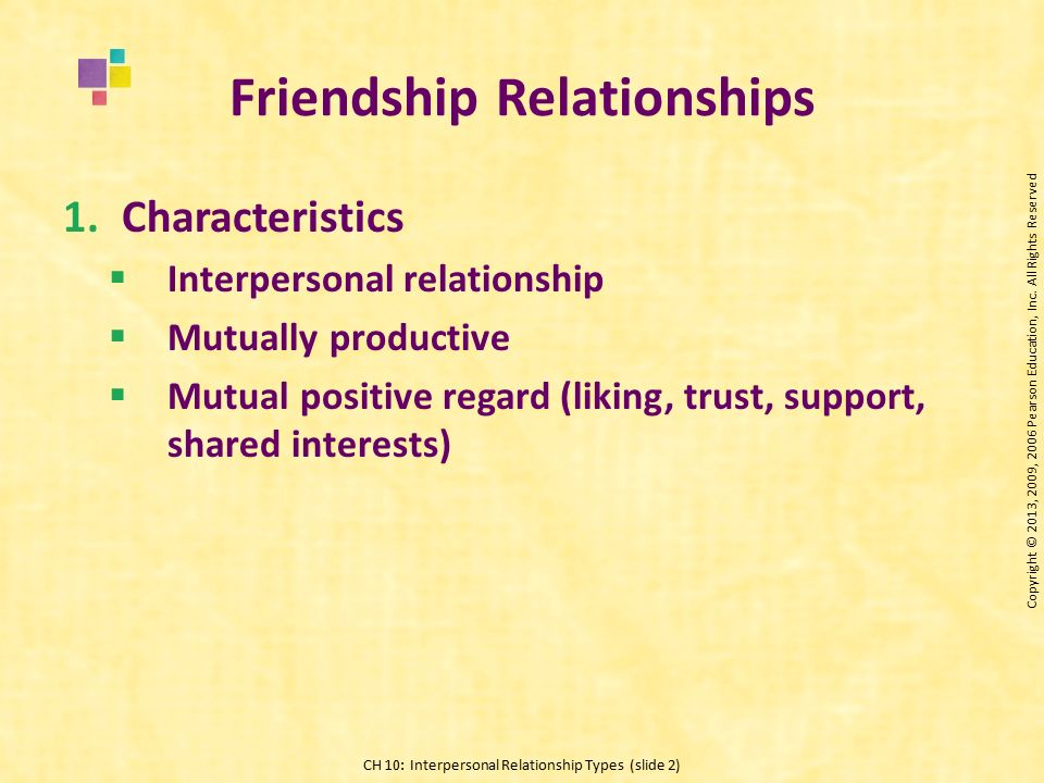 friendship and love are two forms of interpersonal relationship