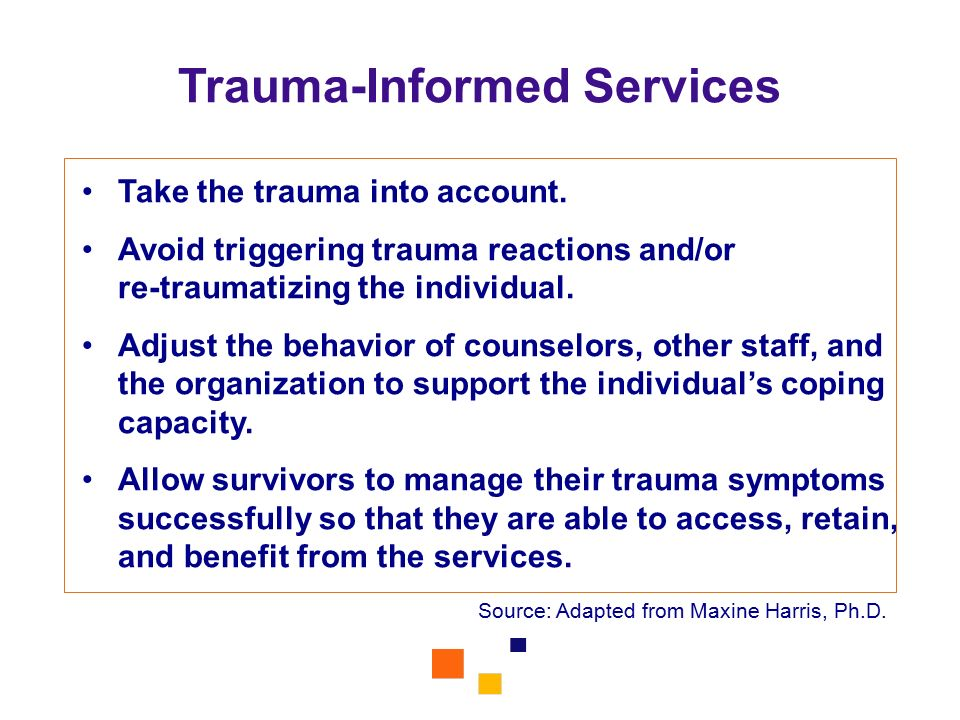 Trauma-Informed Services