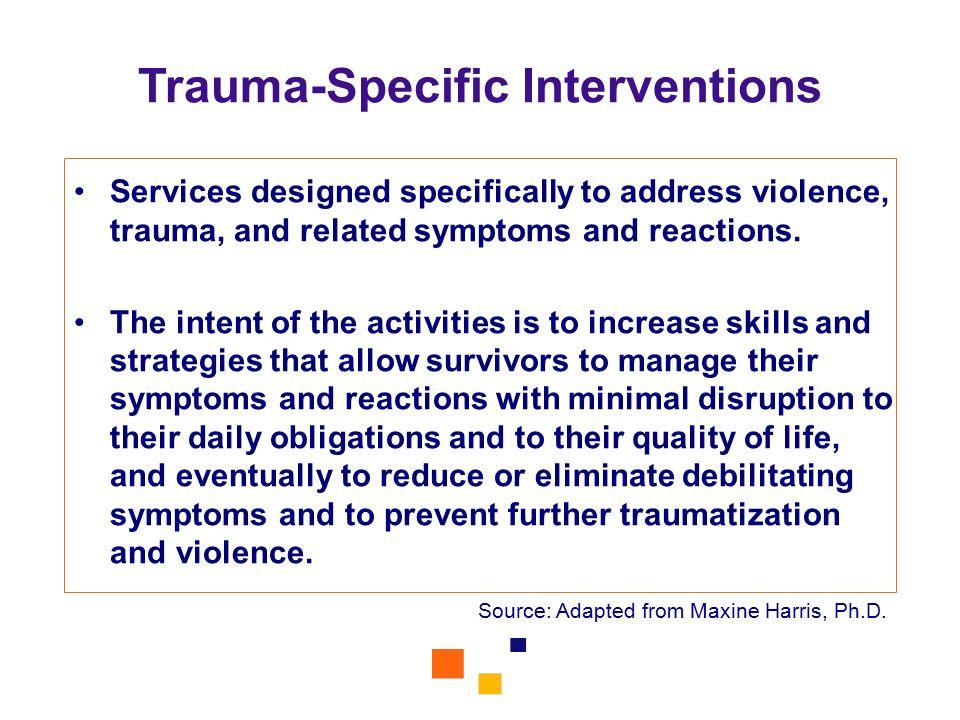 Trauma-Specific Interventions