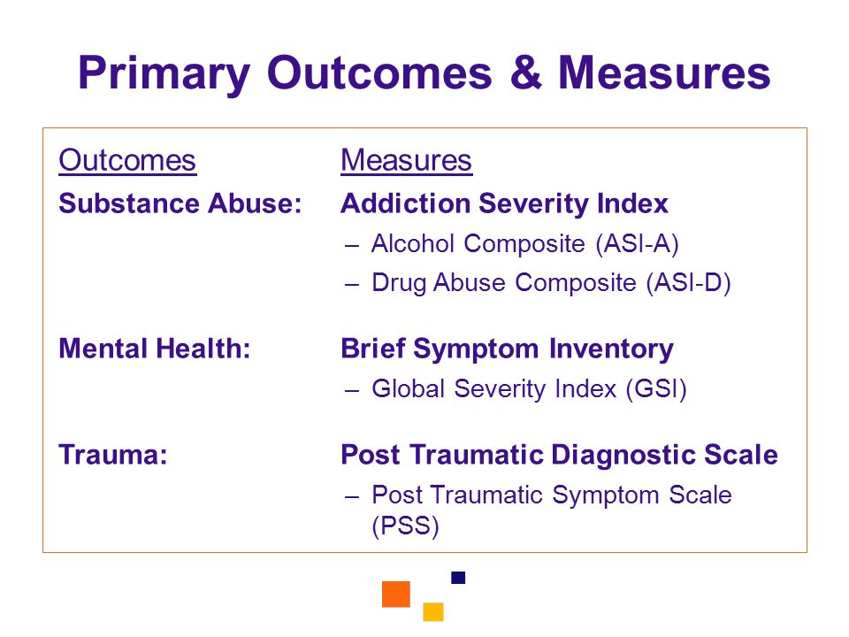 Primary Outcomes & Measures