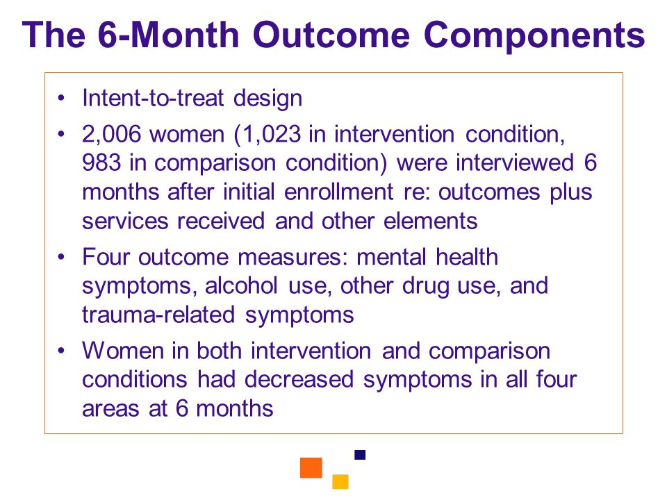 The 6-Month Outcome Components
