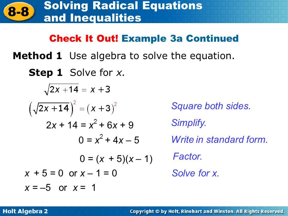 objective solve radical equations ppt video online download. Black Bedroom Furniture Sets. Home Design Ideas