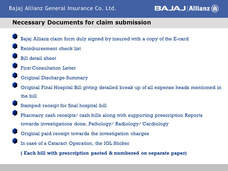 Insurer : Bajaj Allianz General Insurance Co. Ltd - ppt download