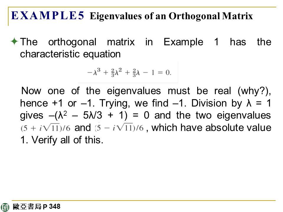 find eigen value