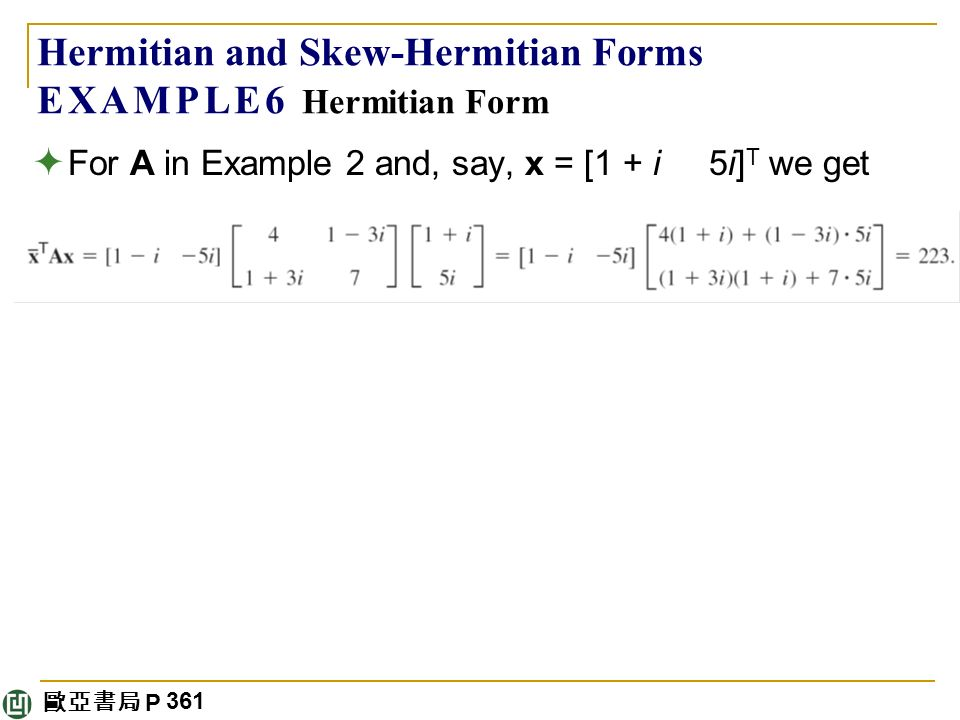 Linear Algebra: Matrix Eigenvalue Problems - ppt download