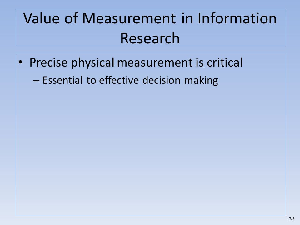 measurement and decision making Answer to unit 4 - assignment 2 [gb519 | measurement and decision making] 1 case study | part 2 part 2: turn in part 2 of the case study at the end of this.