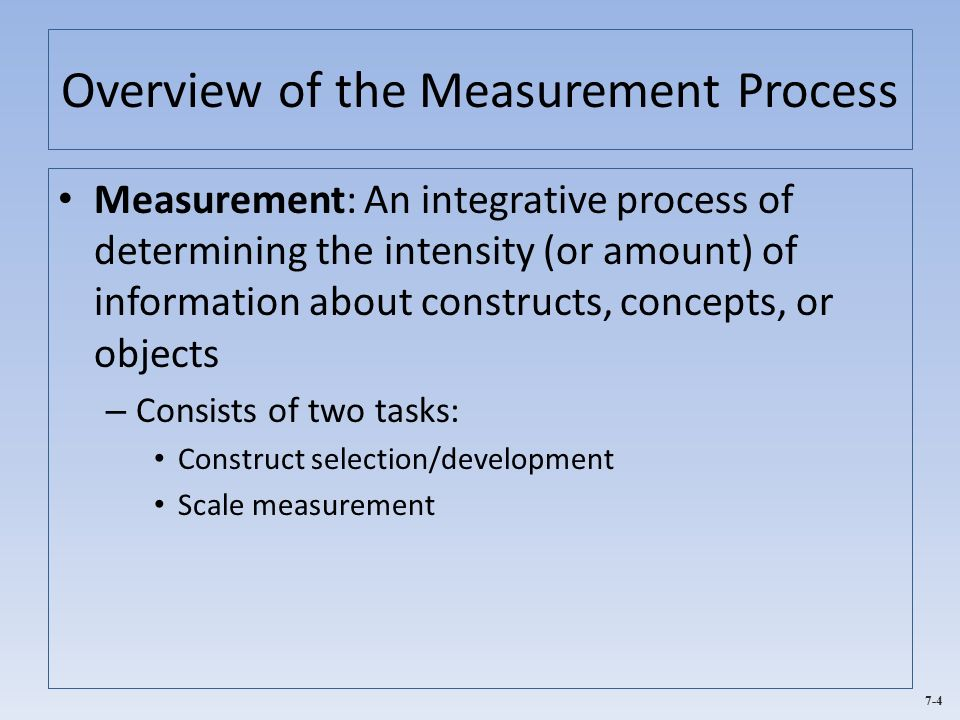 Measurement and scaling concepts essay