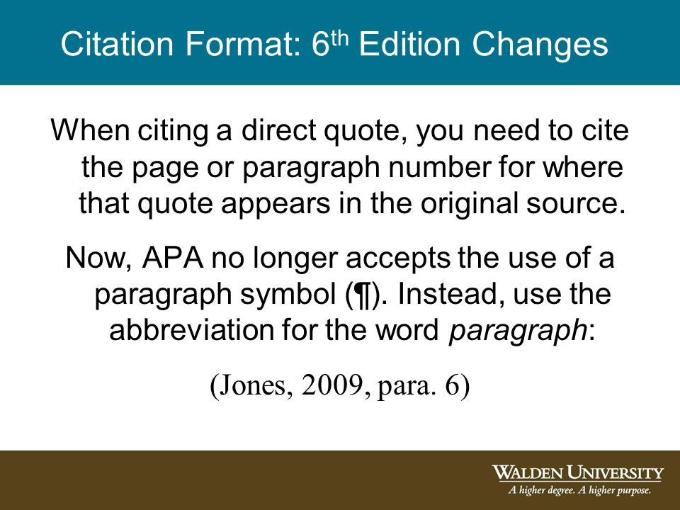 Citing a paraphrased paragraph in apa