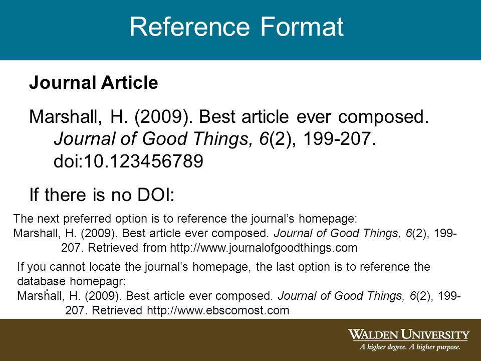 reference regarding journal guide in produce version