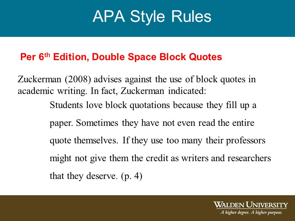 How To Quote In An Essay Apa Style