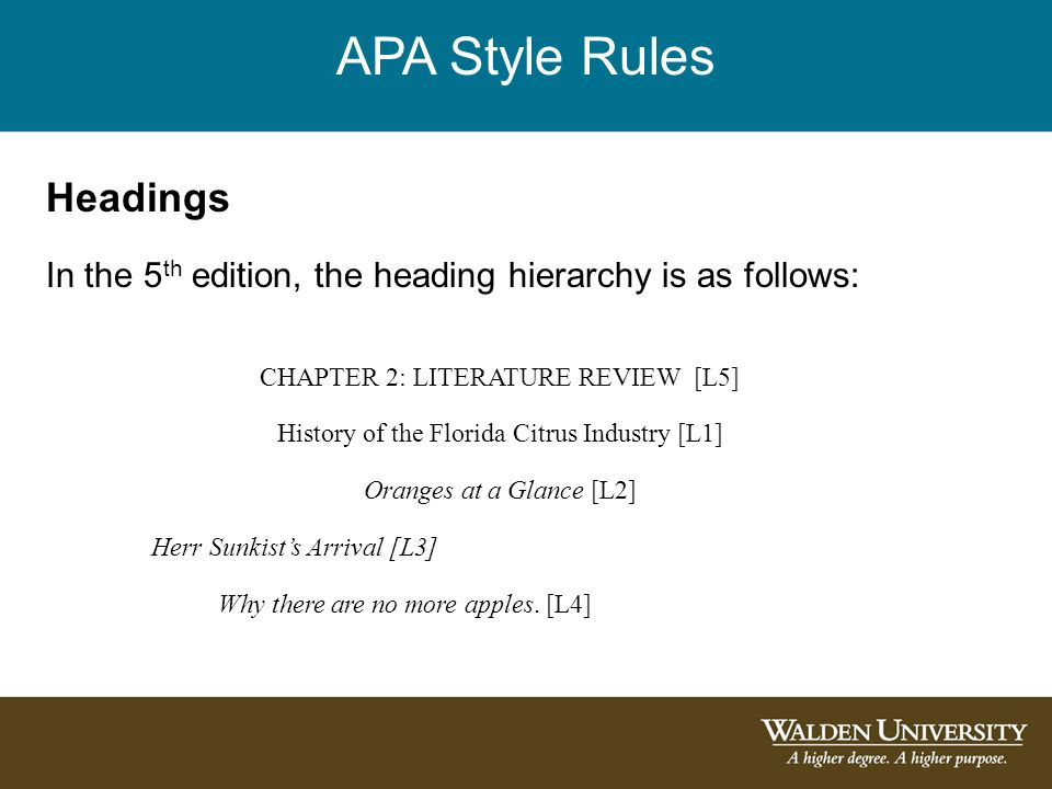 Heading For A Literature Review In Apa Style