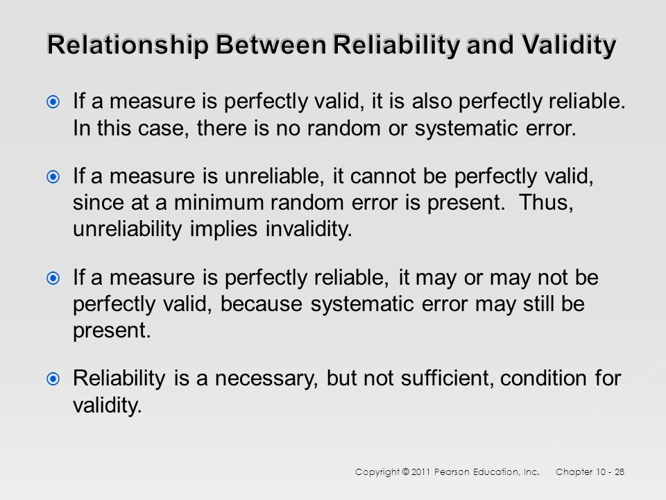 relationship between test reliability and validity