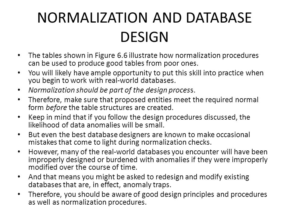 normalization of the erd When dealing with mathematics, the process of normalization takes large number sets and reduces them to a smaller scale, helping you better compare different data sets.