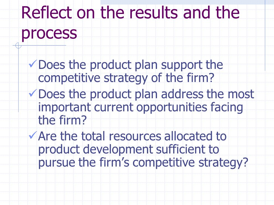 Summary: W6 - Reflecting on the Strategy Process