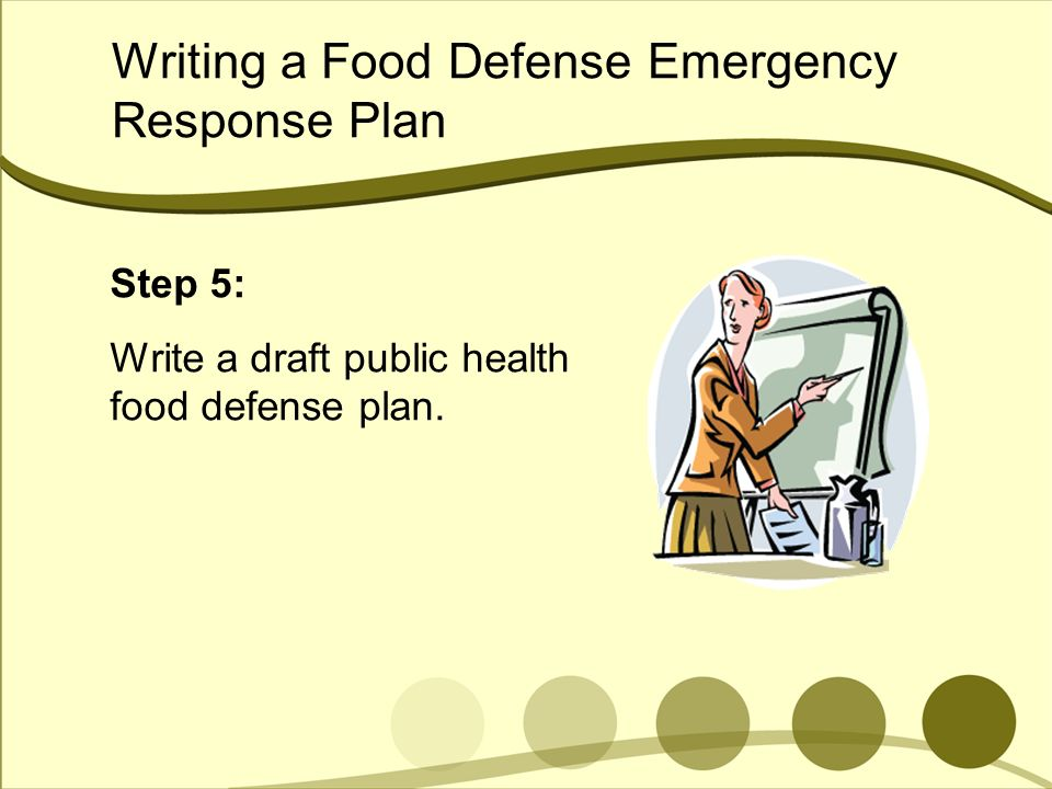 Writing a Food Defense Emergency Response Plan