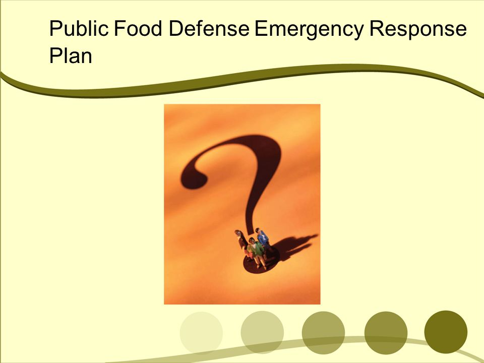 Public Food Defense Emergency Response Plan