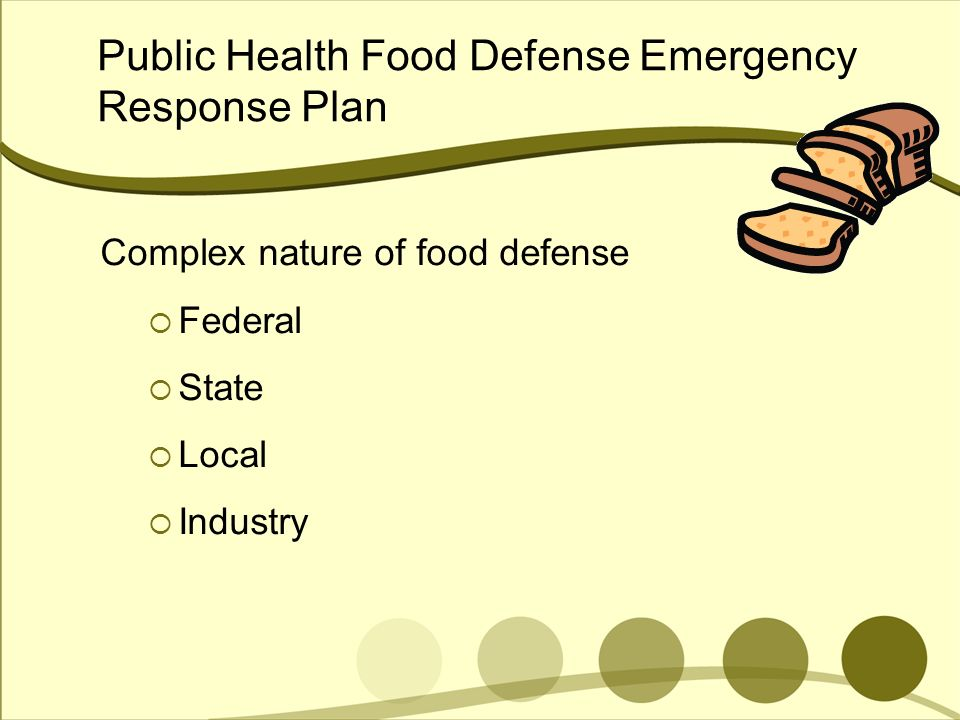 Public Health Food Defense Emergency Response Plan