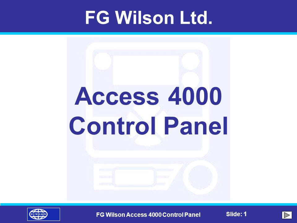 Fg Wilson Access 4000 Control Panel Ppt Video Online Download