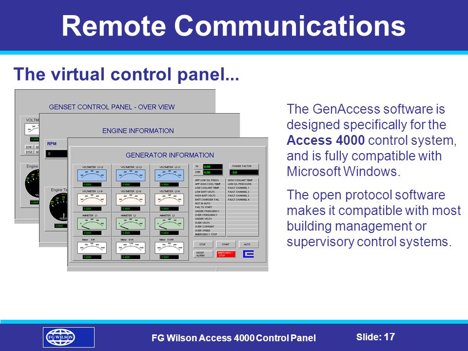 Remote+Communications+FG+Wilson+Access+4000+Control+Panel fg wilson access 4000 control panel ppt video online download access 4000 control panel wiring diagram at mifinder.co