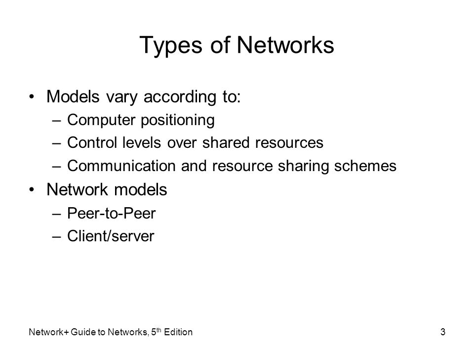 types of networks Choosing the right layout for your business network is highly important, as poorly-designed networks can create speed and instability problems across your it systems.