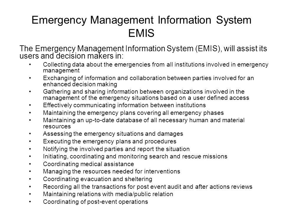 Emergency Management Information System Emis Ppt Video