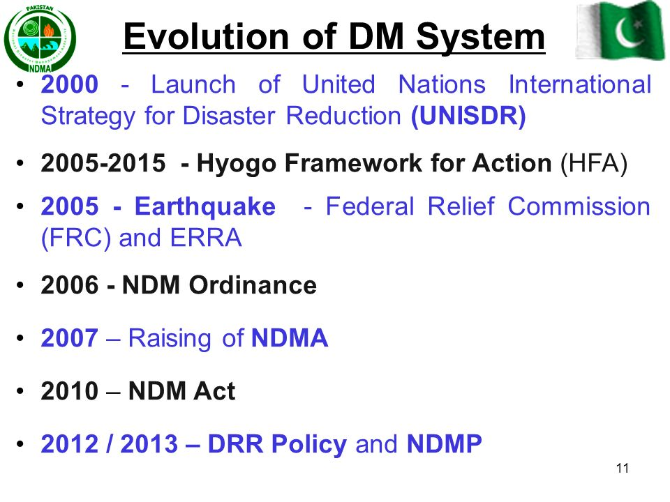 Evolution of DM System 2000 - Launch of United Nations International Strategy for Disaster Reduction (UNISDR)