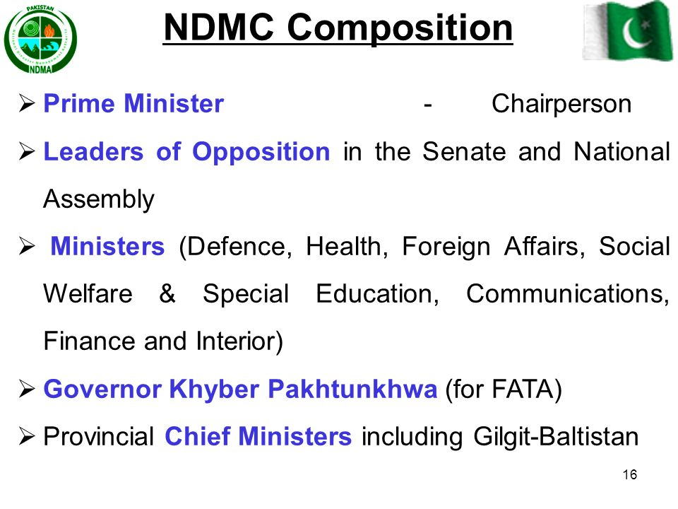 NDMC Composition Prime Minister - Chairperson