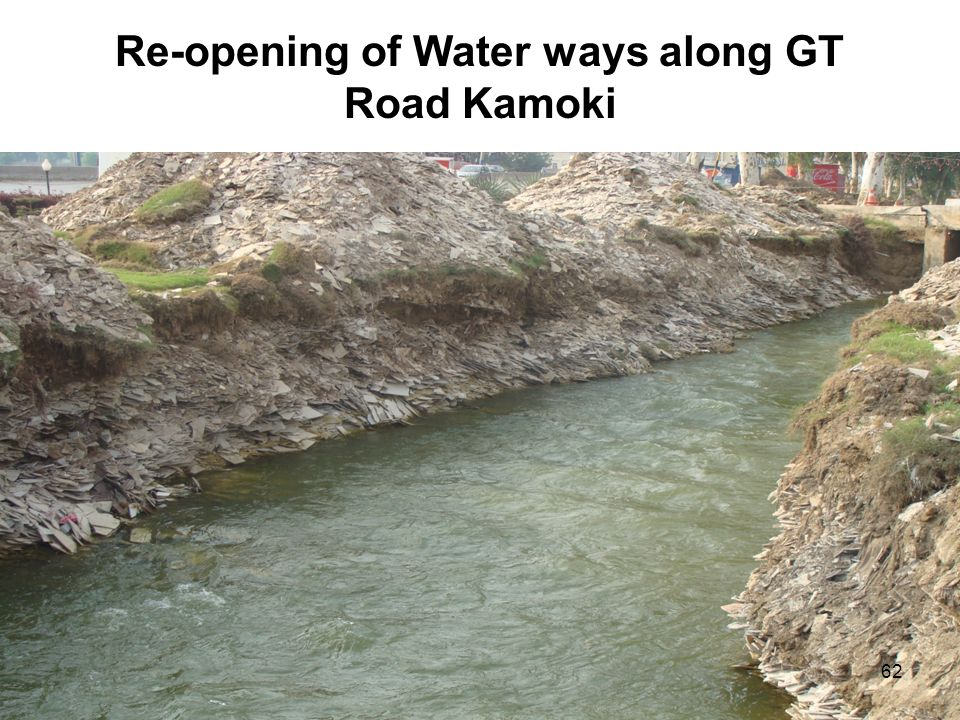 Re-opening of Water ways along GT Road Kamoki