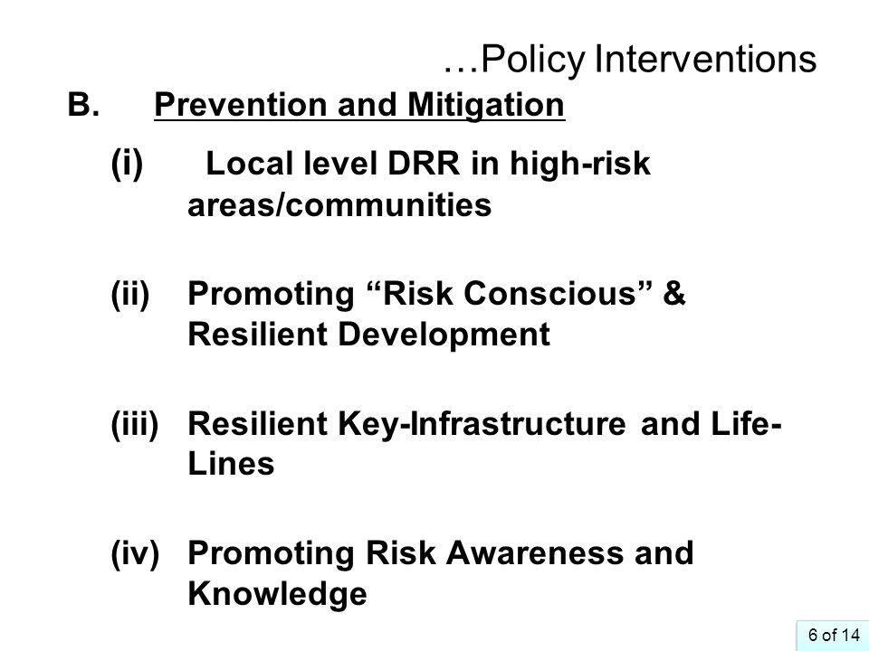 …Policy Interventions