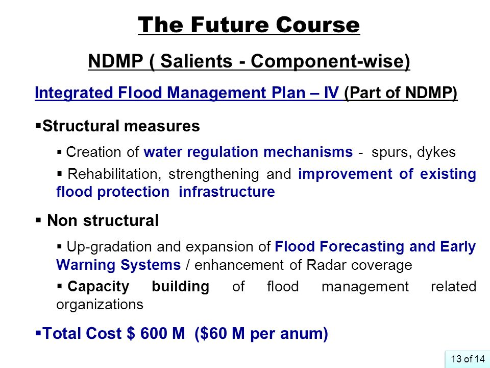 The Future Course NDMP ( Salients - Component-wise)
