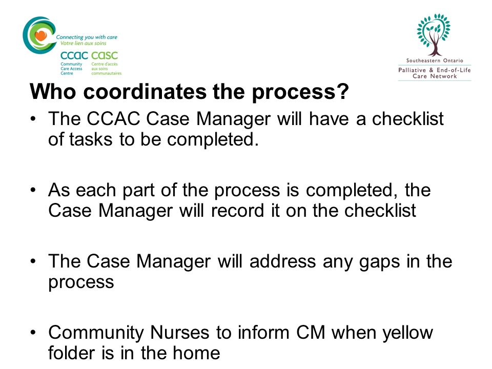 Who coordinates the process