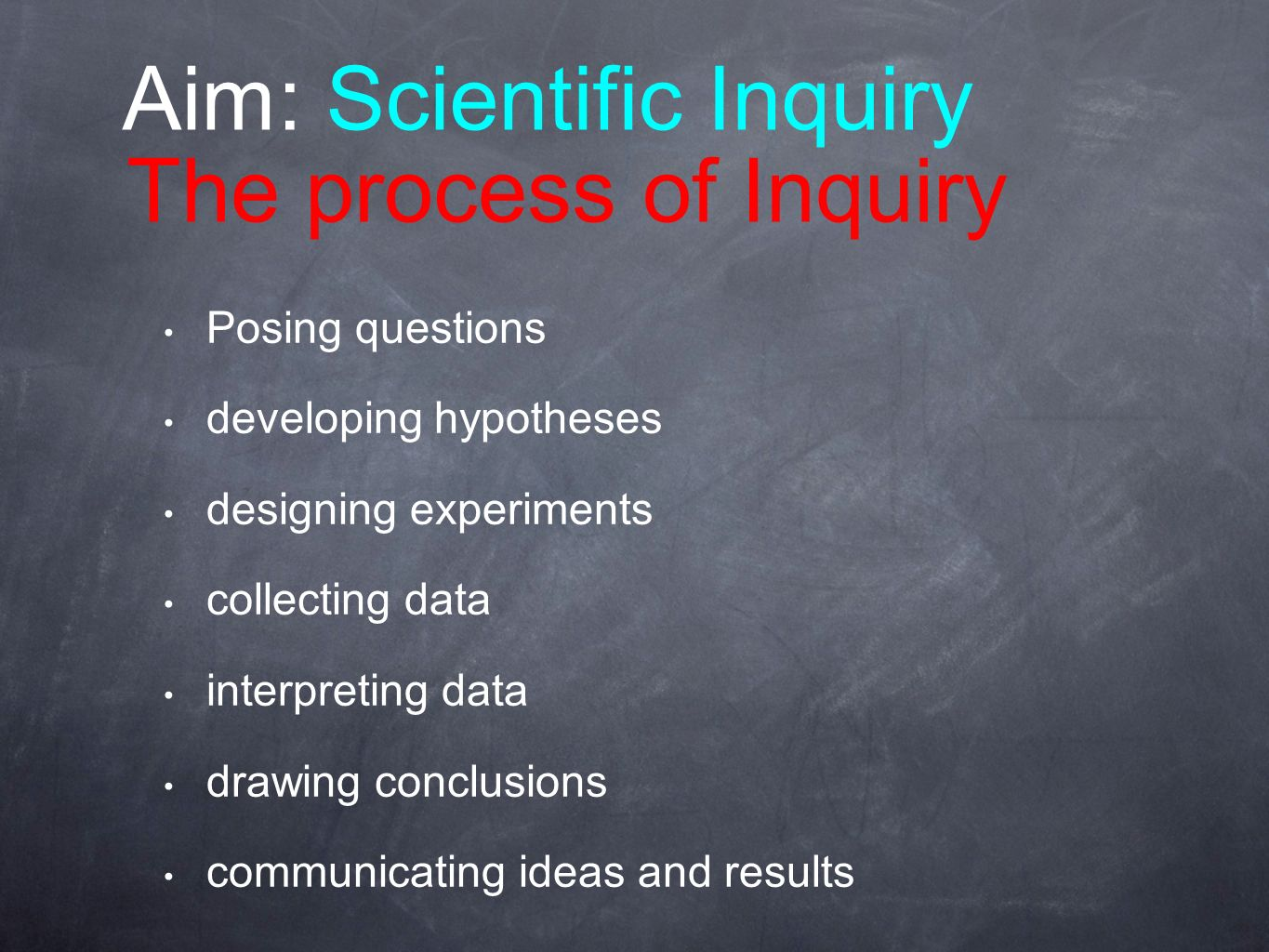 Aim: Scientific Inquiry