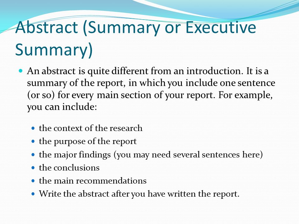 How to Write your Introduction, Abstract and Summary « The