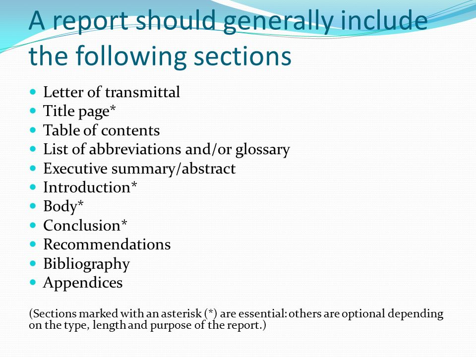 source  how to write a report source