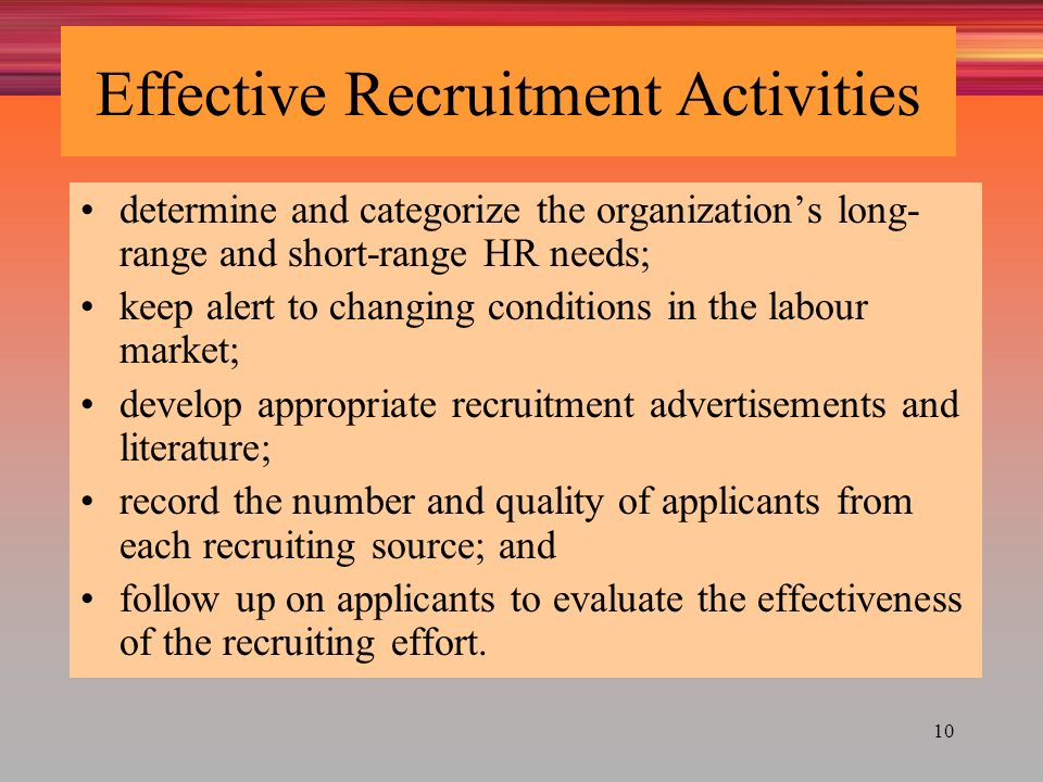 internal and external recruitment and selection management essay A study of the recruitment and selection process: smc • external recruitment can predict by studying trends both in external as well as internal.