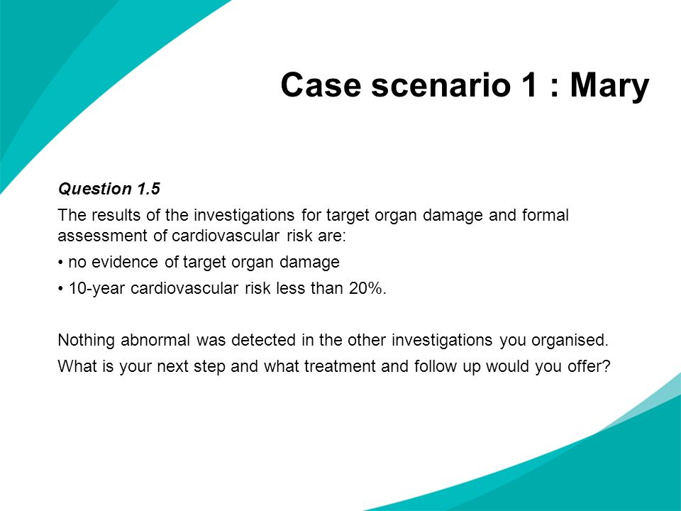 scenario question