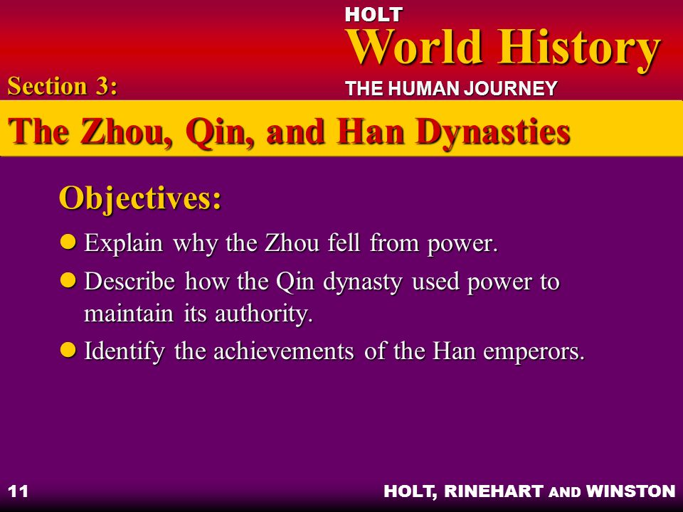 compare and contrast the zhou qin and han dynasties