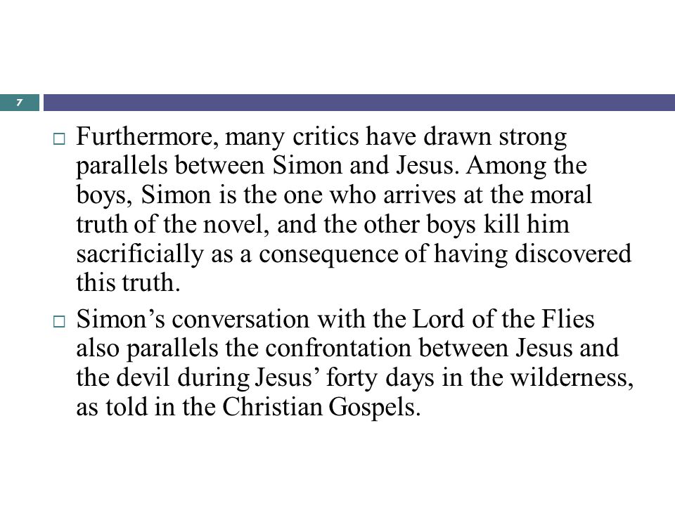 lecture novelii ppt  furthermore many critics have drawn strong parallels between simon and jesus among the boys