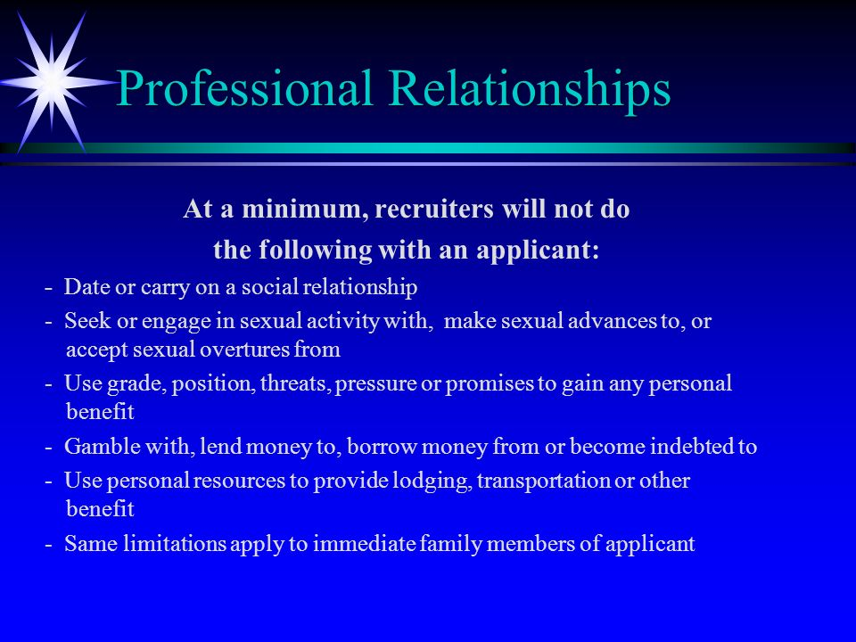 explain how social and professional relationships Explain that you want the relationship to return to a professional  the gmc  warns that social media can blur professional boundaries and.