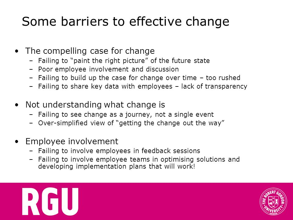 change management a guide to effective implementation